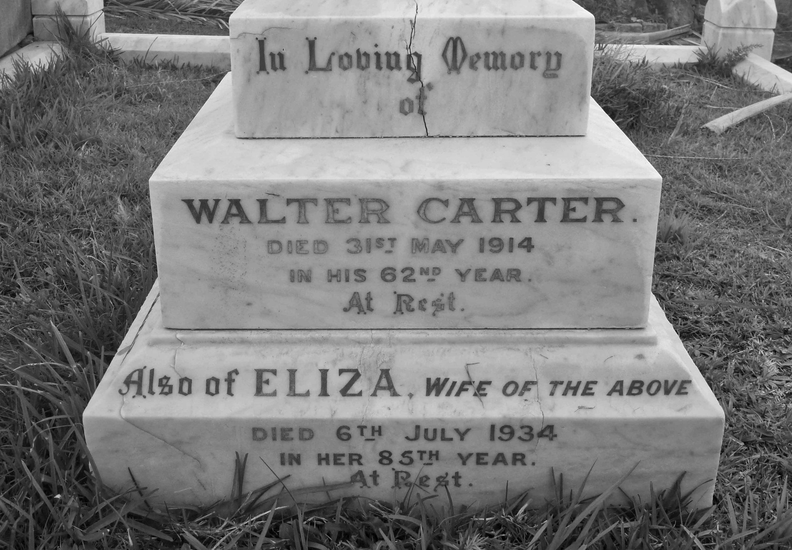 Walter Carter Grave